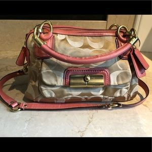 Auth Coach canvas purse